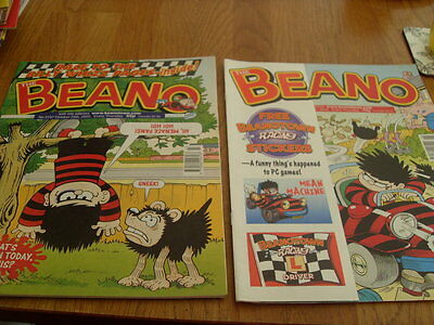 The Beano Comic 2 Issues No 3197 / 3200 + Stickers