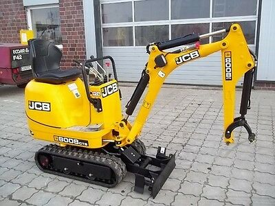 Jcb 8008 Cts Micro Digger Complete Decal Set With Safty Warning