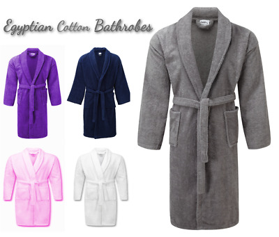 1e9989b19b Unisex Luxury Pure Cotton Terry Towelling Bath Robe Dressing Gown Towel  Night