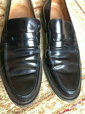 3ea85cbe192 Gucci Solid Black Leather Dress Half strap Nib Loafers Italy US 8.5 E EUR  42 E