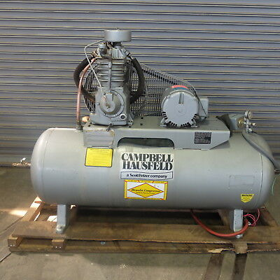 5 HP Campbell Hausfield Industrial Air Compressor  5 HP 220 Volt 3 Phase
