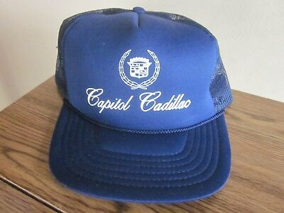 Vintage Capitol Cadillac Snapback Trucker Hat Nice L  k  free Shipping  8d92cf63d27
