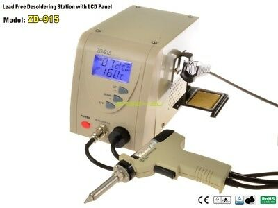 NEW Lead Free Desoldering Station ZD-915 Quick and Clear desoldering 160-480° C