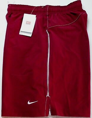 NIKE TEAM Men's Athletic Training Shorts Small Red White Cardinal FitDry Woven