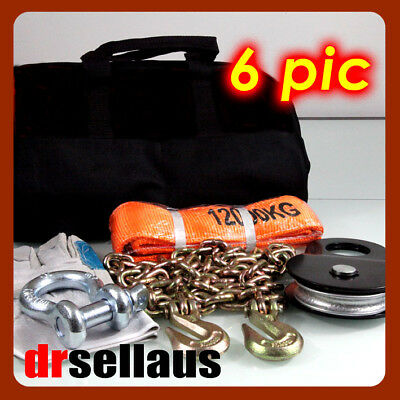 6 Piece 4Wd Winch Recovery Kit 4X4 Off Road