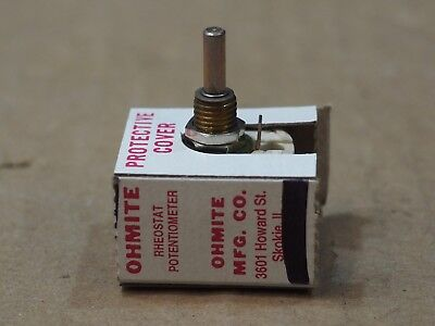 Ohmite RES500 Potentiometer Wirewound Rheostat Shaft 12.5w 500ohm 10 % OEM US