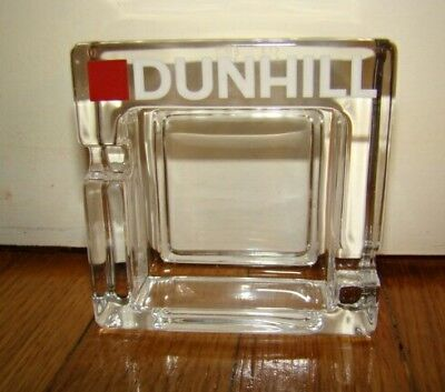Posacenere Dunhill Vetro/glass Ashtray-Accendino-Lighter-Mechero-Pubblicitario