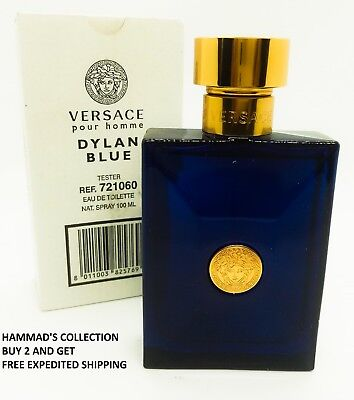 a6855c7dedbb Versace Pour Homme Dylan Blue Edt 3.4 Oz For Men With Cap (Brand New Tester