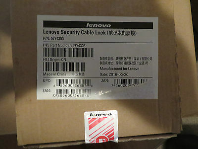 Brand New – (Kensington) Lenovo Security Cable Lock / 57Y4303 Box of 10