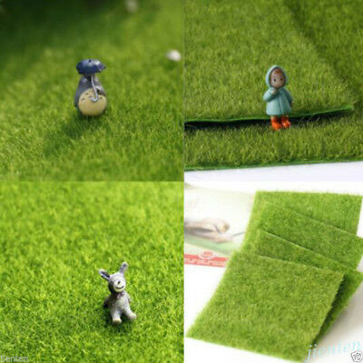 1Pc Artificial Grass Fake Lawn Fairy Garden Ornament Dollhouse Craft Decor