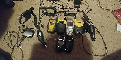 Lot Of 6 Old Cell Phones For Parts Or Repair Motorola/lg/nokia