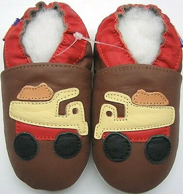minishoezoo soft sole leather baby shoes boy toddler boots aircraft navy 12-18m