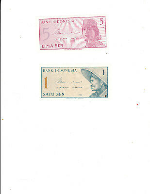 2 pre loved Banknotes from Indonesia
