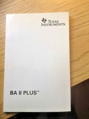 Texas Instruments BA II Plus Business Financial Calculator Manual ONLY