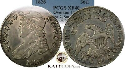 1828 PCGS XF 40 Overton O-114 Capped Bust Half Dollar US Coin Item #18050A