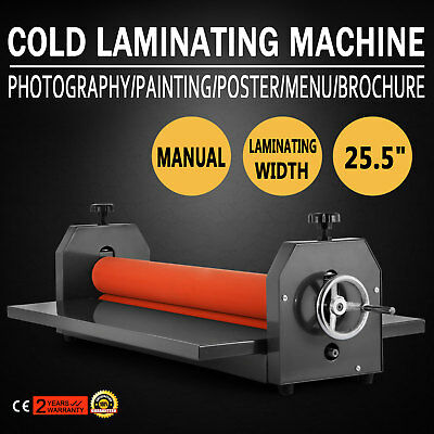 "25.5"" Manual Cold Laminator Laminating Machine Desktop Vinyl Film Roll Newest"
