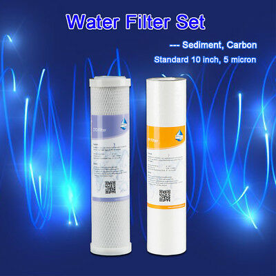 "MS® 5 Micron 10"" Sediment & Carbon Filter for 2 Stage RV Water Filter System NSF"