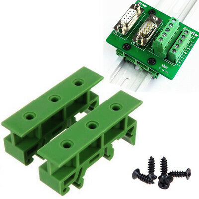 2Pcs PCB Din C45 Rail Adapter Circuit Board Mounting Holder Carrier 35mm Fixed