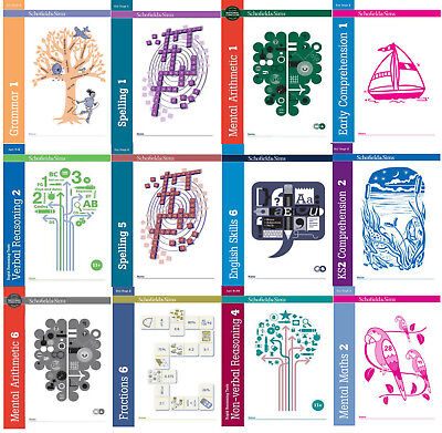 comprehension grammar, fraction, mental maths workbooks KS1 KS2 ages 5-11 years