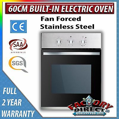 Adelchi 60cm Fan Forced Built-In Electric Stainless Steel Wall Oven 2 Yr Warrant