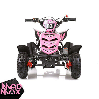2018 Orange 49cc Mini Atv Quad Bike Kids 4 Wheeler Dirt Buggy Pocket Bike Pickup