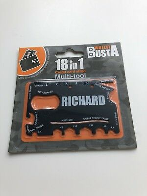 Wallet Busta RICHARD 18 In 1 Multi Tool Present Bottle Opener Phone Stand
