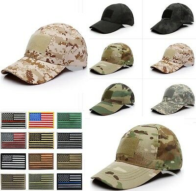 270464ee14a Outdoor Tactical Baseball Style Military Hunting Hiking US Flag Patch Cap  Hat