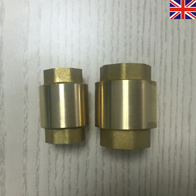 """SIZES FROM 1//2/"""" To 3/"""" VALVE BSPP NON-RETURN BSP BRASS SPRING CHECK"""