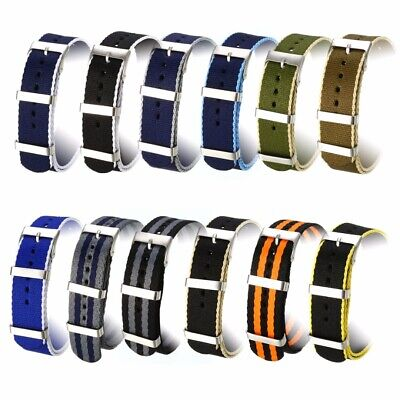 20mm Watch Strap Fabric Nylon Canvas Fiber Strap Wristwatch Band Replacement