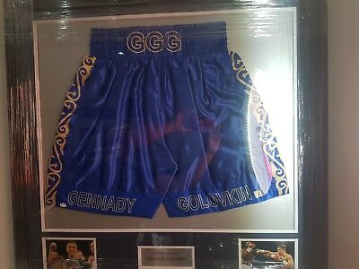 GGG Shorts Signed Gennady Golovkin with COA and Online Authentication
