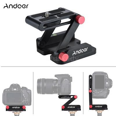 Desktop DSLR Camera Tripod Flex Pan Tilt Head Quick Release Plate Holder K2K7