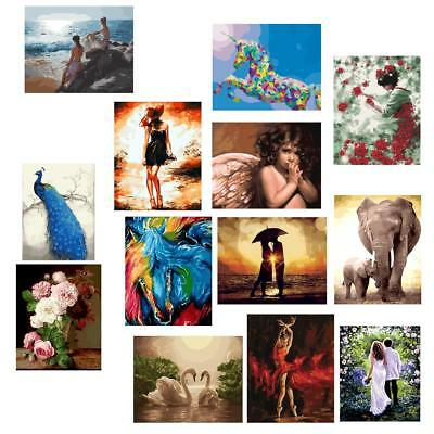 Frameless DIY Paint By Numbers Kits Canvas Painting Wall Artwork Picture
