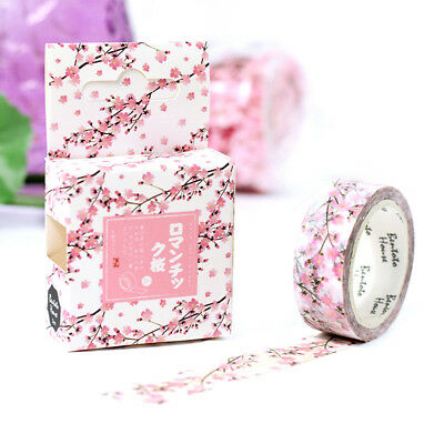 FT- Romantic Cherry Decorative Washi Tape DIY Scrapbook School Supply Crafts Div