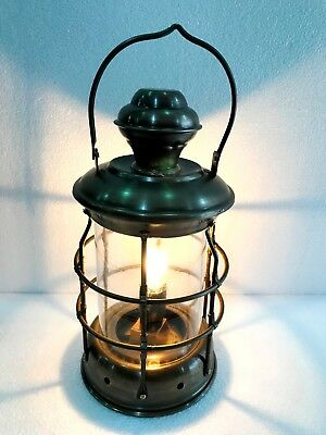 Vintage Brass Electric Lamp Maritime Ship Lantern Boat Hanging Decorative Light