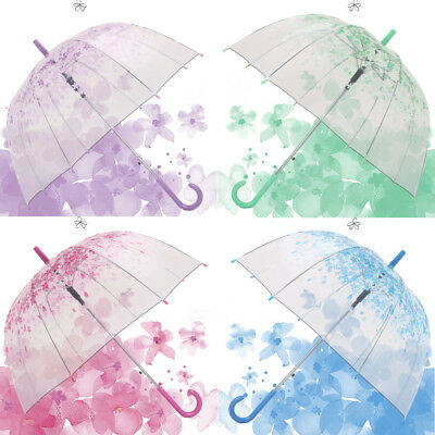 FT- Women Ladies Clear Umbrella Cherry Blossom Mushroom Apollo Dome Umbrella Eye