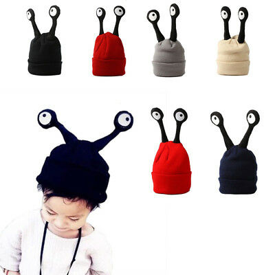 FT- Cute Baby Infant Winter Knitted Beanie Insect Tentacle Eyes Warm Cap Hat Nov