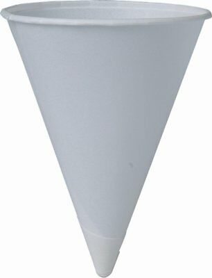 SOLO Cup Company Solo 4BR 200 Piece Cup Company Cone Water Cups, Cold, Paper, 4
