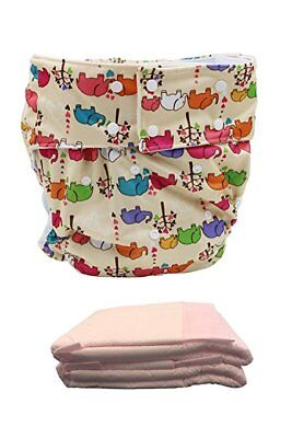 Happy Adult Waterproof Cloth Diaper Cover with 2PCS Absorbent