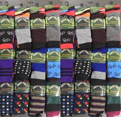 48 Pairs Of Mens Fresh Field Suit Casual Socks Size 6-11 Wholesale Job Lot