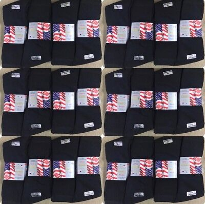 60 Pairs Of Mens Black Sport Socks Assorted Size 6-11 Wholesale Job Lot
