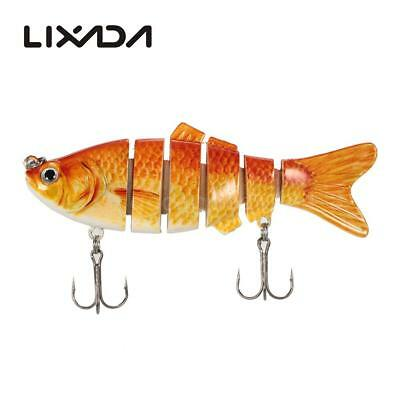 Lixada 10cm/20g Lifelike 6 Jointed Sections Swimbait Fishing Lure Crankbait T3D5