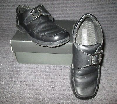 Kenneth Cole Reaction Black Leather Slip-On Dress Loafer Youth Boys Size 2