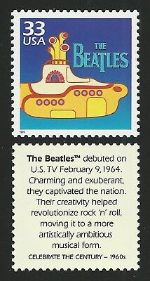 THE BEATLES Fab 4 50th Anniversary YELLOW SUBMARINE Movie Stamp MINT CONDITION !