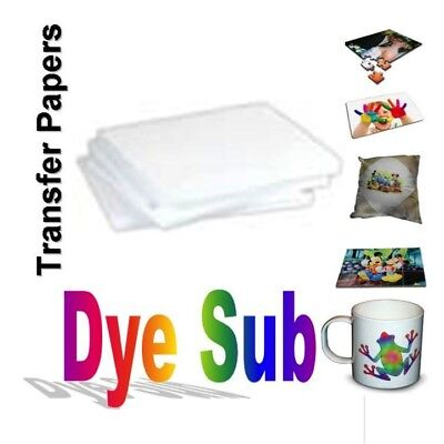 "100 Sheets A (8.5"" x 11"") Sublimation Transfer Paper for Specialty Printing"