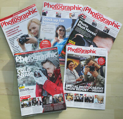 26 Copies British Photographic Industry News dated 2014, 2015, 2016, 2017, 2018
