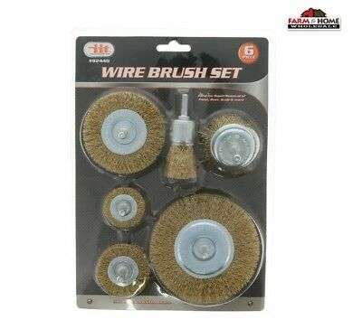 Wire Wheel Brush Set 1/4 Shank Mandrel ~ New