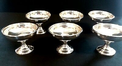 Sterling silver sorbet/sherbet cups, made by M. Fred Hirsch Co. before 1945