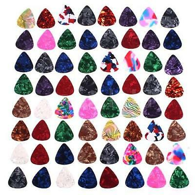 Andoer 20 x Stylish Colorful Celluloid Guitar Picks Plectrums UK Q1Y0