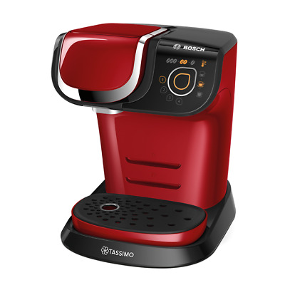 Bosch TAS6004GB Tassimo My Way Red Cappuccino Espresso Pod Machine 1300 Watts