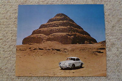 1964 Porsche 356-B Coupe Showroom Advertising Poster RARE!! Awesome L@@K
